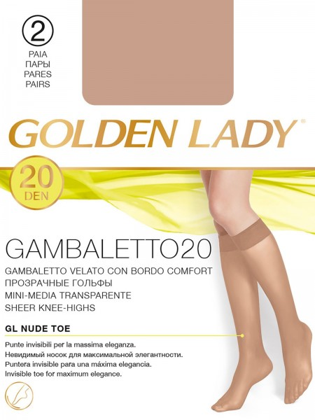 GOLDEN LADY GAMBALETTO 20, 2 paia