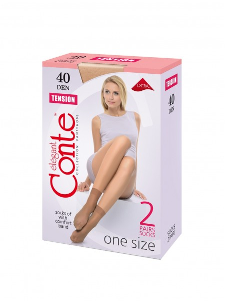 CONTE elegant TENSION 40 socks, 2 pairs